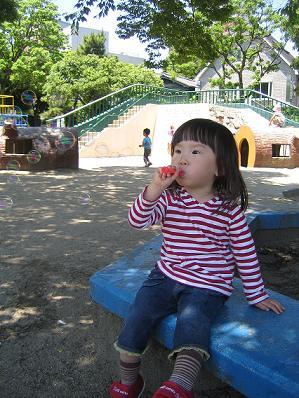公園でシャボン玉.JPG